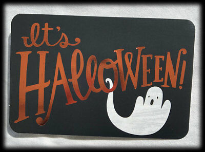 American Greetings Foil Ghost It's Halloween Get Your Scare On Note Card