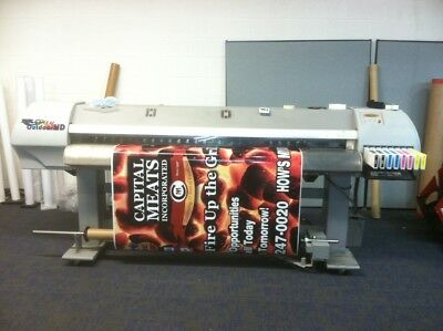 Mutoh Falcon II 2 Outdoor ECO SOLVENT Printer with TONS OF SPARES Wraps, Signs