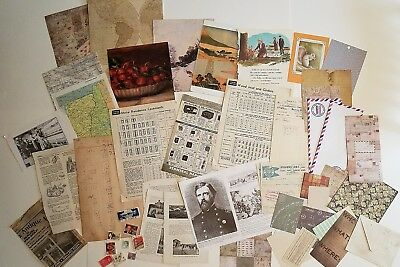 Lot of Vintage and Antique Ephemera, Collage, Junk Journal, Paper Stash