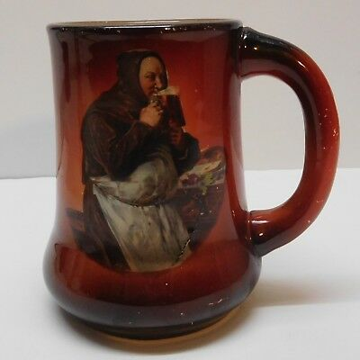 Monk Mug Drinking Beer Ale in Apron Marked Bottom Vintage China