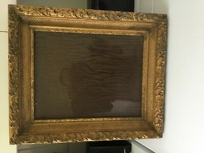 Old antique wood picture frame