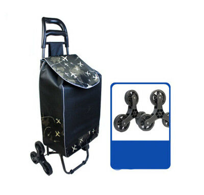 D202 Rugged Aluminium Luggage Trolley Hand Truck Folding Foldable Shopping Cart