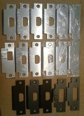Lot Of 18 Schlage Mortise Door Lock Strike Plates
