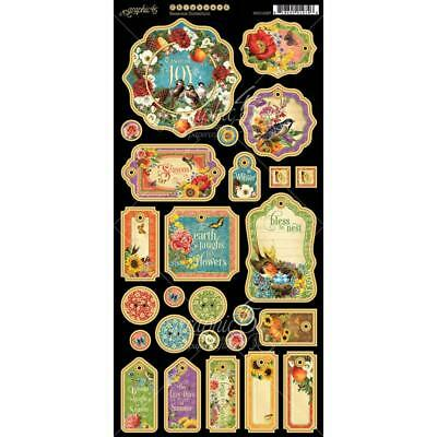 Graphic 45 SEASONS - Journaling Chipboard Die-cuts