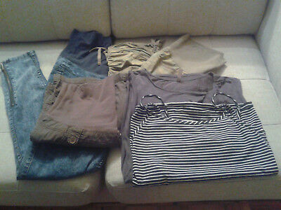 Lot of Thyme maternity clothes, medium sizes.