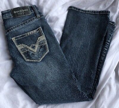 request jeans Buckke Denim Sz 8 Boys Accent Stitching Premium
