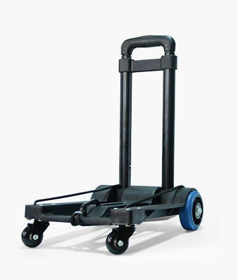D64 Rugged Aluminium Luggage Trolley Hand Truck Folding Foldable Shopping Cart