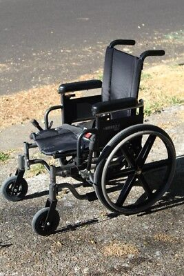 Quickie Breezy 510 wheelchair foldable collapsible transport