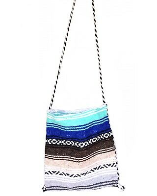 Mexican Blanket Boho Carry On Bag, Mexican Hippie Peyote, Baja Beach Tote