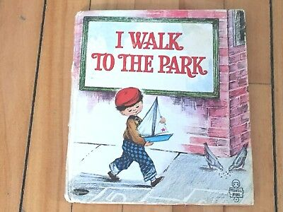 "1966 Vintage ""I Walk To The Park"" Tell-A-Tale Book"