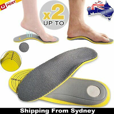 Orthotic Arch Support Shoe Insoles Pads Pain Relief Flat Foot Hard Men Women
