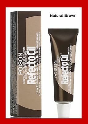 RefectoCil Tint No3 Natural Brown Eyelash Lash Eyebrow Tinting Colour Dye Eyes