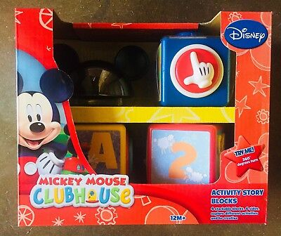Disney Mickey Mouse Clubhouse Activity Story Blocks 12M+ New In Box