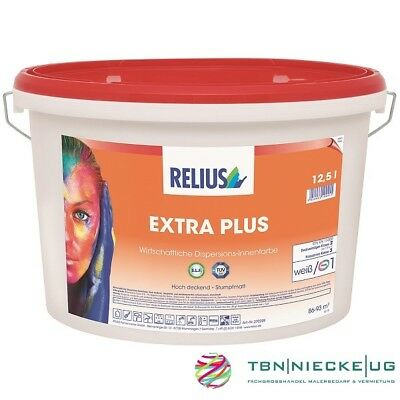 Relius Extra Plus weiß 12,5 l, Innenfarbe, Wandfarbe Dispersion