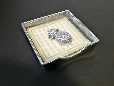 Lenox Napkin Holder Box with Pineapple weight - Everyday Soiree - metal