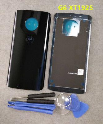 OEM Blue For Motorola Moto G6 XT1925 Real Glass Battery Back Cover Door Panel