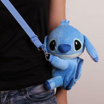 New Hot DISNEY Lilo & Stitch Crossbody Hand Bag plush toy messenger Purse bag