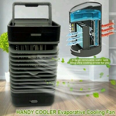 HANDY COOLER Portable Evaporative Air Cooler Fan Air Conditioner 2 Speed Fan UK