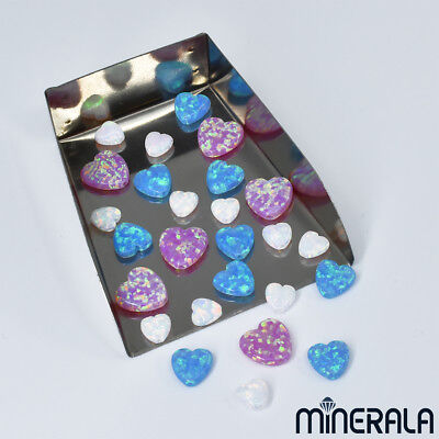 [Wholesale] Synthetic Opal Heart Bead Vertical Full Drill Various Sizes
