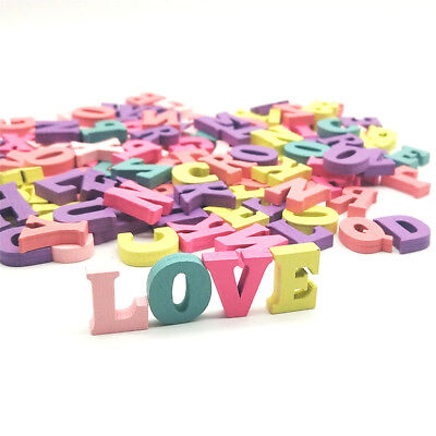 100pcs Colorful Home Decoration Wood Wooden Letter Alphabet Word Free Standing