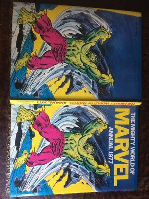 Marvel 1977(Hulk)Superhero Comic Annual Vintage/original Stored 45 Approx Years.