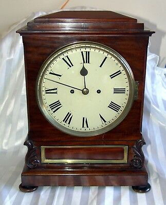 Antique mid 1800's striking bracket clock with fusee mvt serviced & working