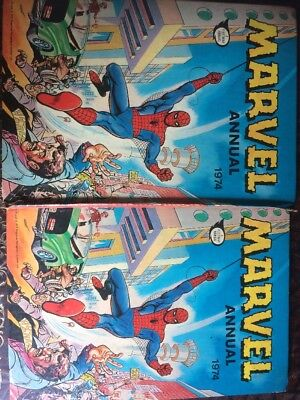 Marvel 1974 Superhero Comic Annual Vintage/original Stored 45 Approx Years.