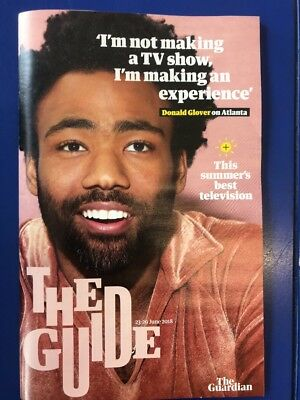 Donald Glover cover and interview Guide Magazine June 23 2018.