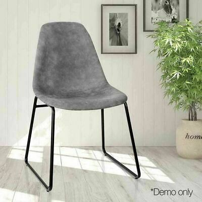 2x PU Leather Dining Office Cafe Lounge Home Padded Seat Classic Modern Chair