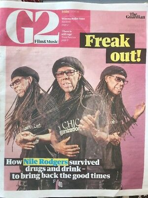 NILE RODGERS G2 Film & Music The Guardian News Paper 22/6/18