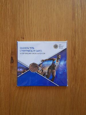 2014 Royal Mint British Glasgow Commonwealth Games Fifty Pence (50p) Coin Pack