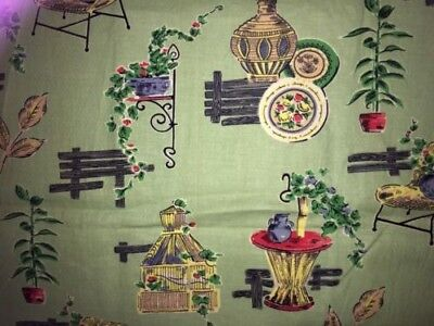 vintage cotton fabric 1950's collectable. Excellent condition.