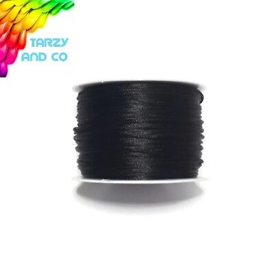 1mm Black Satin Nylon Cord DIY Silicone Bead Was Teething Necklace Jewellery