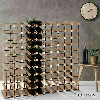 Cellar Bar Organiser 110 Bottle Timber Wine Rack Storage Wooden Holder Stand