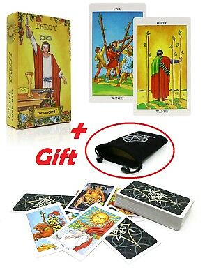 The Clasical Rider Tarot Deck 78 Cards English Set Future Telling with FREE Bag