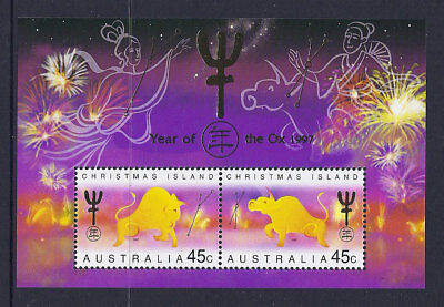1997 Christmas Island Stamps - Lunar New Year-Year of Ox Mini Sheet MUH