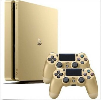 Sony PlayStation 4 (PS4) 500GB gold + 2 Controller