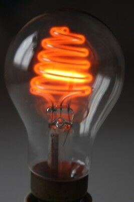 Rare Early Neon electric light Lamp Bulb,GEC, 1940s ?, working, osglim,beehive