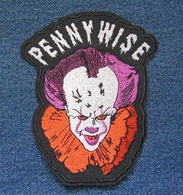 PENNYWISE Clown from Stephen King's IT Cult Horror Classics Iron On Patch