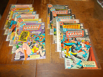 Justice League of America (1960 series)  Full run 12 iss 161 - 172 DC 1978 VFN