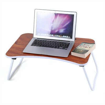 Portable Folding Laptop PC Desk Lap Bed Tray Dinner Notebooks Wooden Table Shelf
