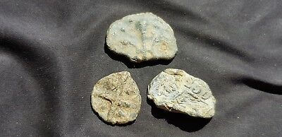 Lovely lot Medieval to Post Medieval lead tokens. Please read description. L70d