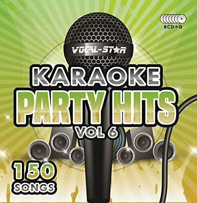 Karaoke Party Hits Vol 6 CDG CDG Disc Set - 150 Songs on 8 Discs Including The