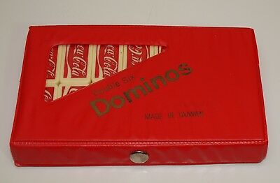 Vintage Standard Dominoes Double Six COCA COLA Coke Play Crafts Jewelry