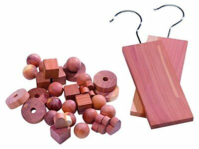 Compactor Moth Repellant Cedar Blocks for Drawers and Wardrobes, Brown, Pack of