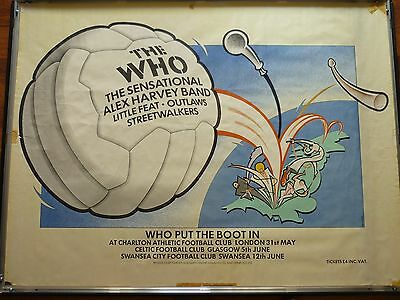 Vintage Quad Who Tour Poster Who Put The Boot In 1976