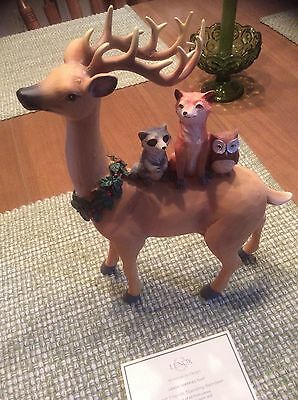 Lenox Reindeer With Animal Friends Figurine Nib!