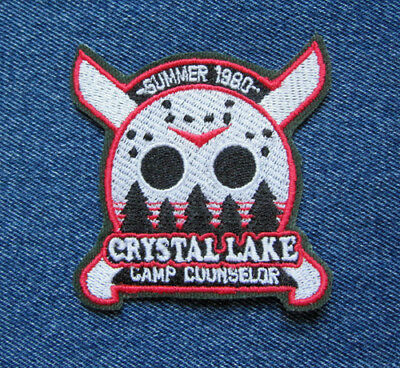 Cult Horror Friday 13th Crystal Lake Camp Counselor Novelty Iron On Patch