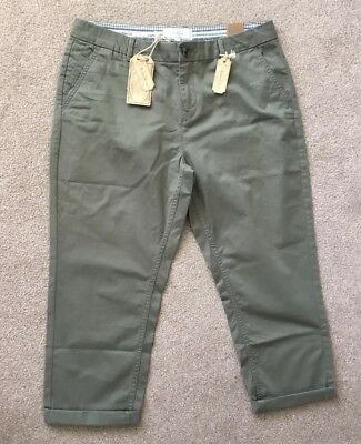 BNWT Fat Face Lulworth Chino Cropped Trousers Size 12 £39.50