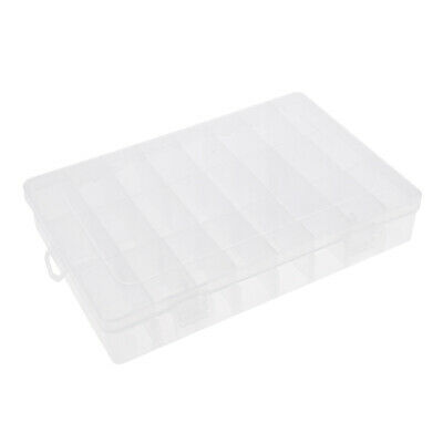 24 Compartments Plastic Box Jewellery Earring Beads Hair Band Case Container